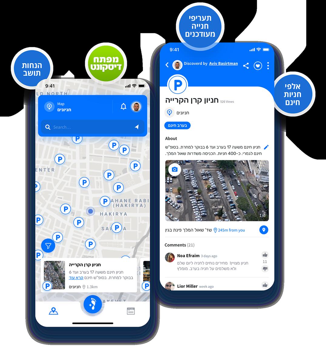 מפה קהילתית חניונים - STEPS App