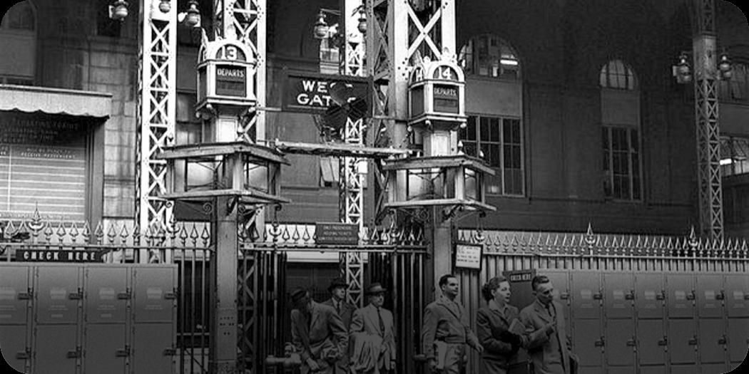 Penn Station, 1953  STEP - History Photos NYC Map