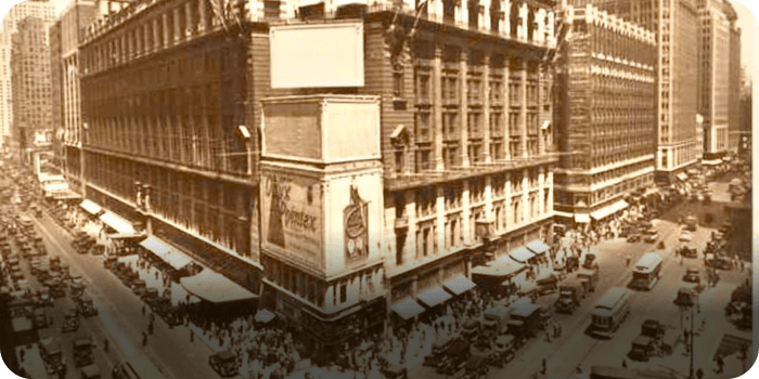 Macy's, 1928  STEP - History Photos NYC Map