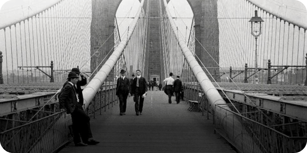 Brooklyn Bridge opens, 1883 STEP - History Photos NYC Map