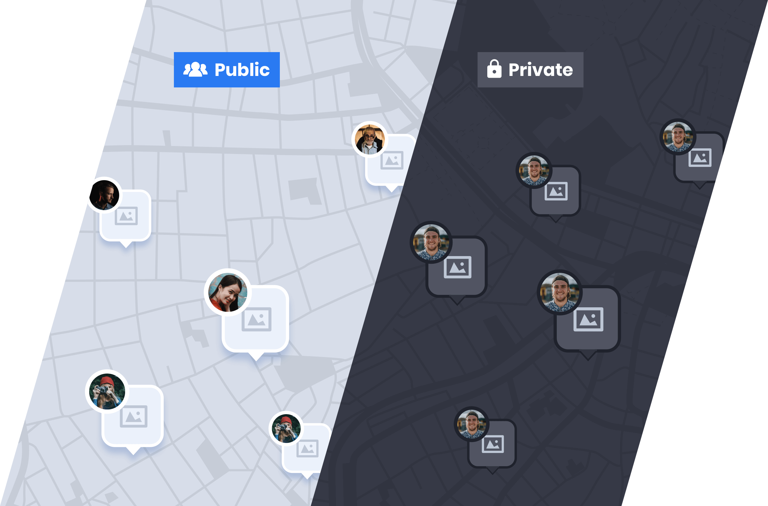 Public-Private maps mockup