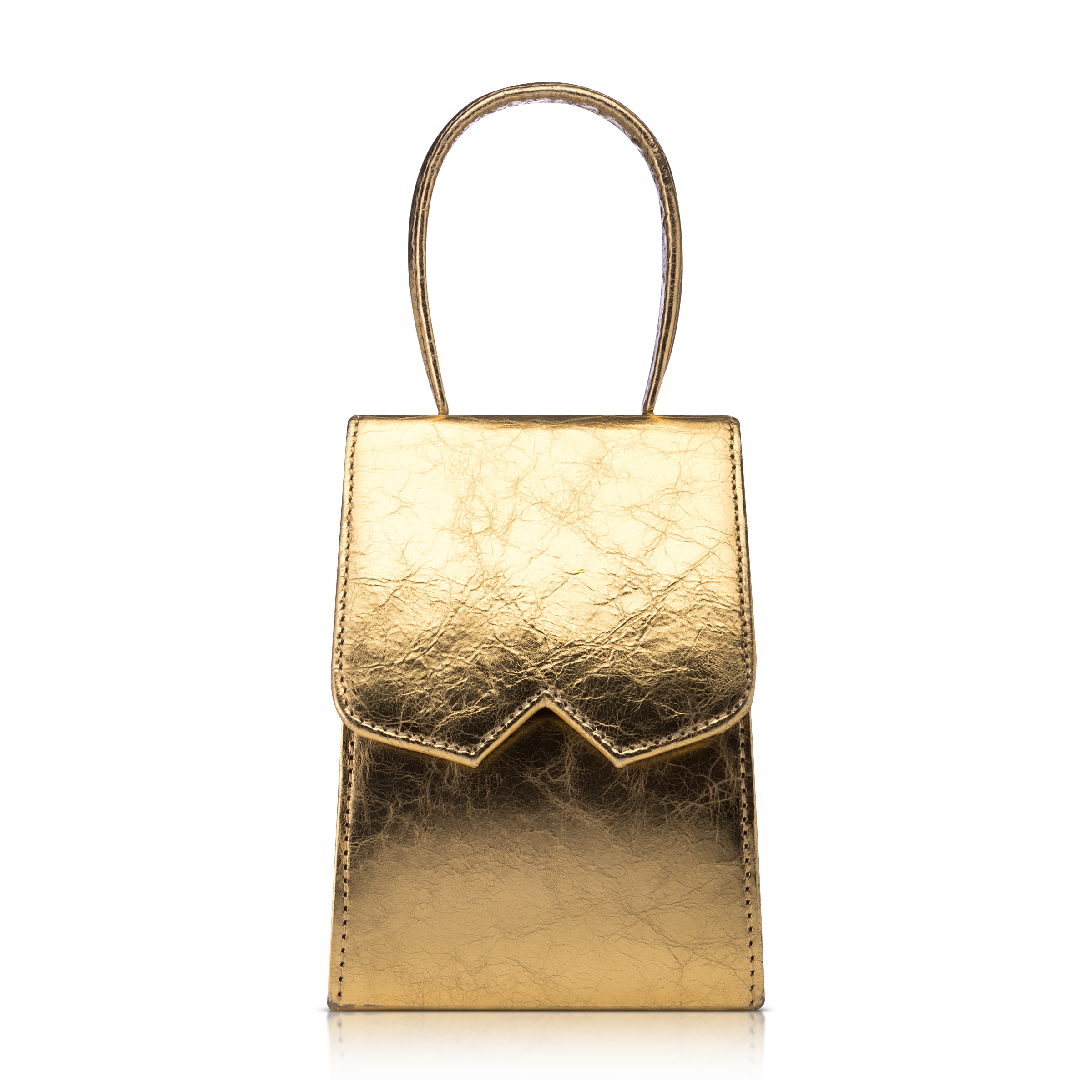 golden bag product photography