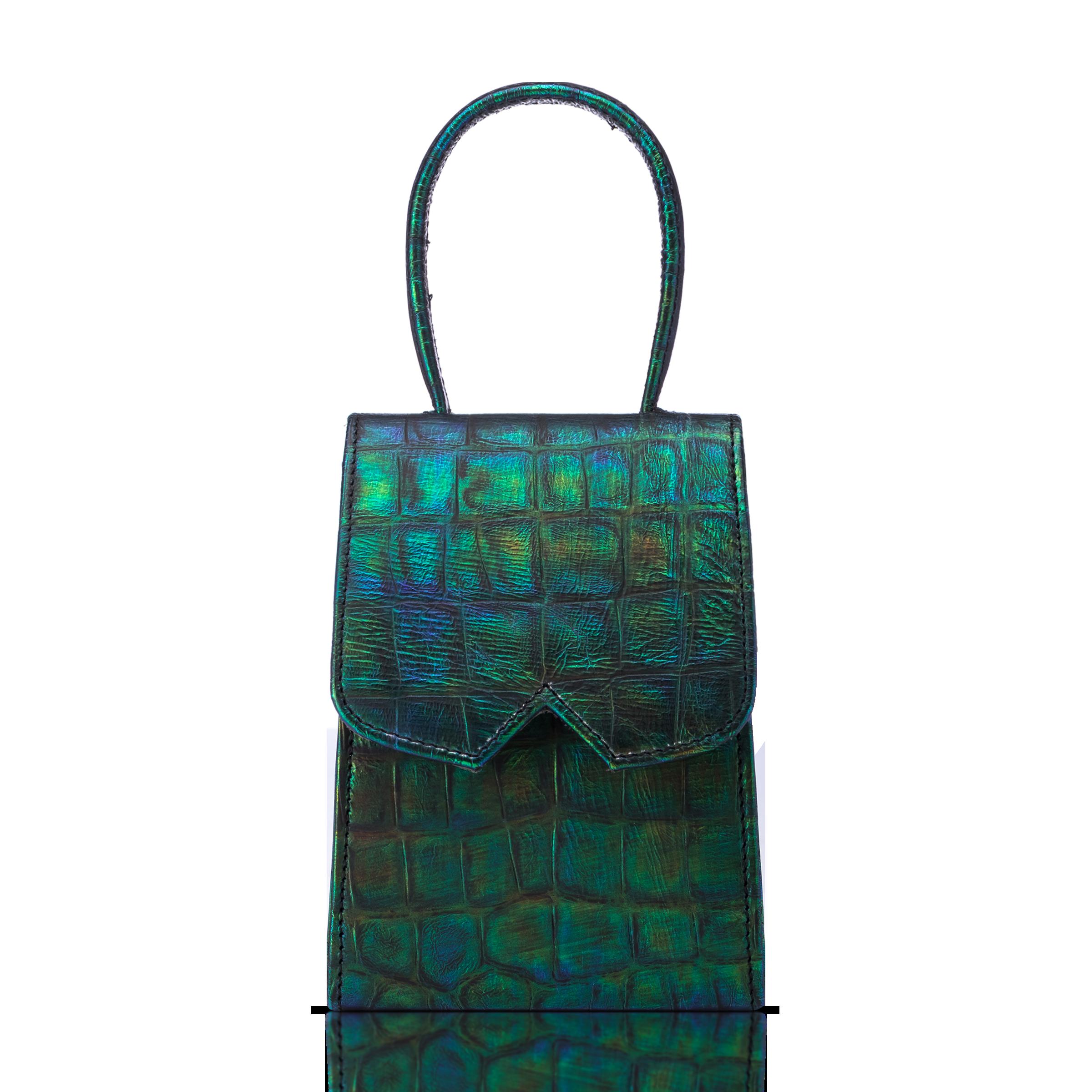 Green crocodile bag product photo