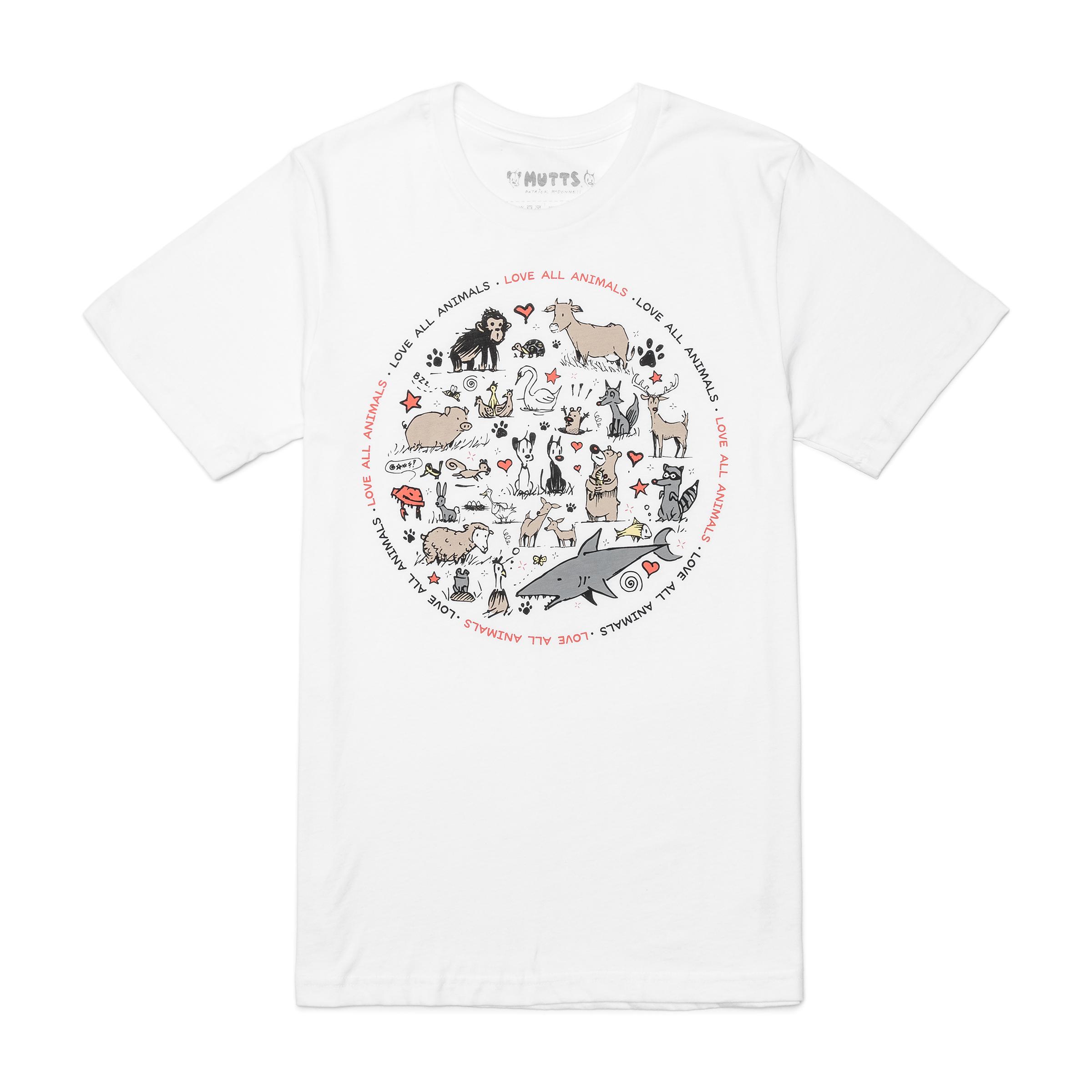 white t-shirt product image