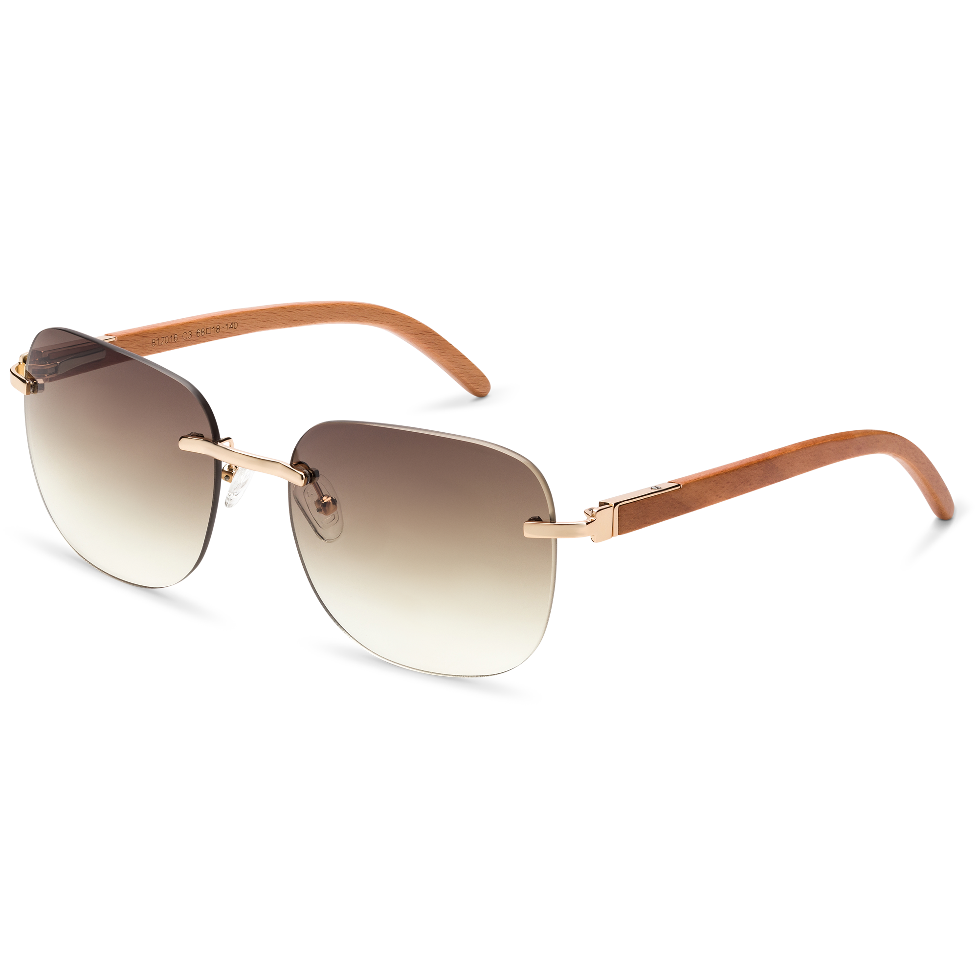 brown sunglasses product photography