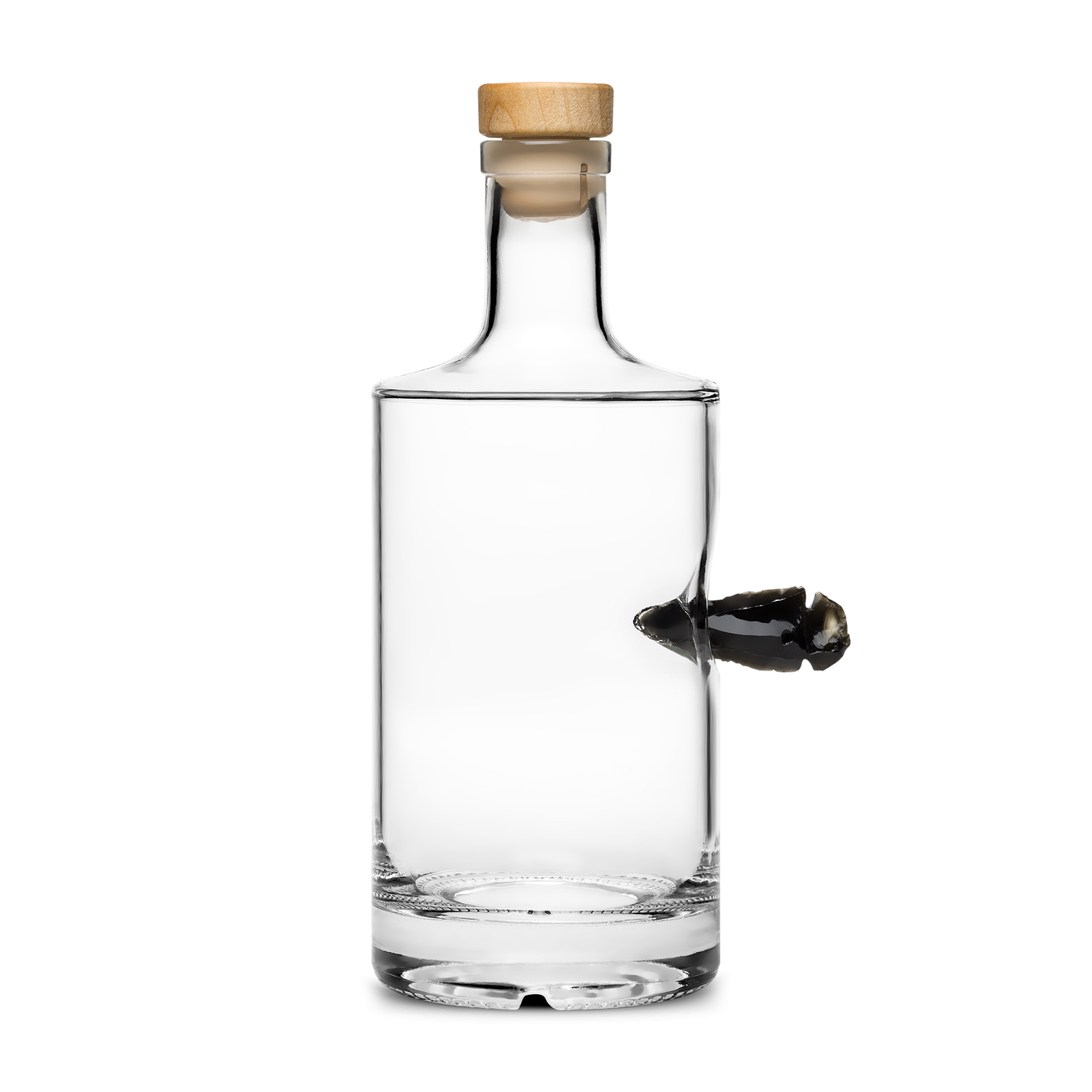 glass bottle product photography