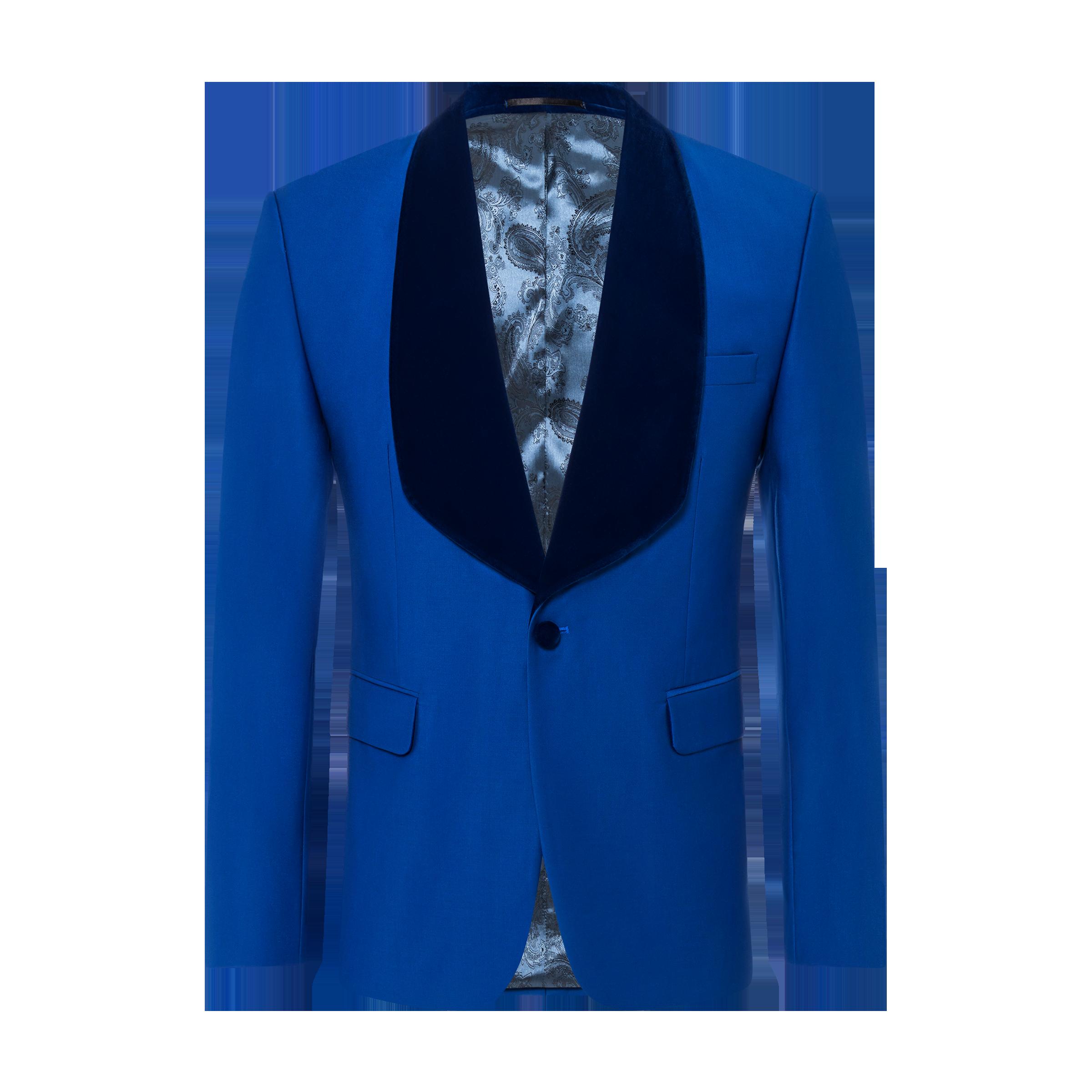 blue jacket product photography