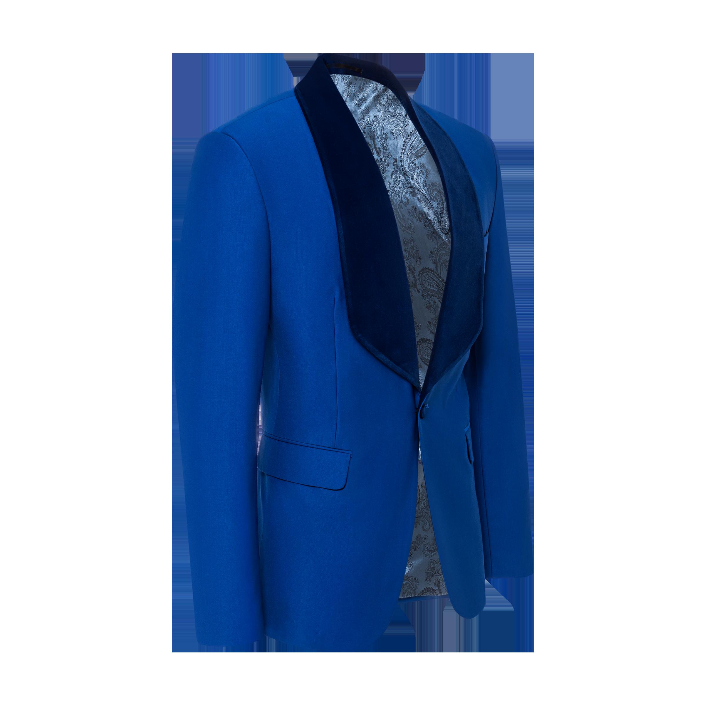 blue jacket product photo