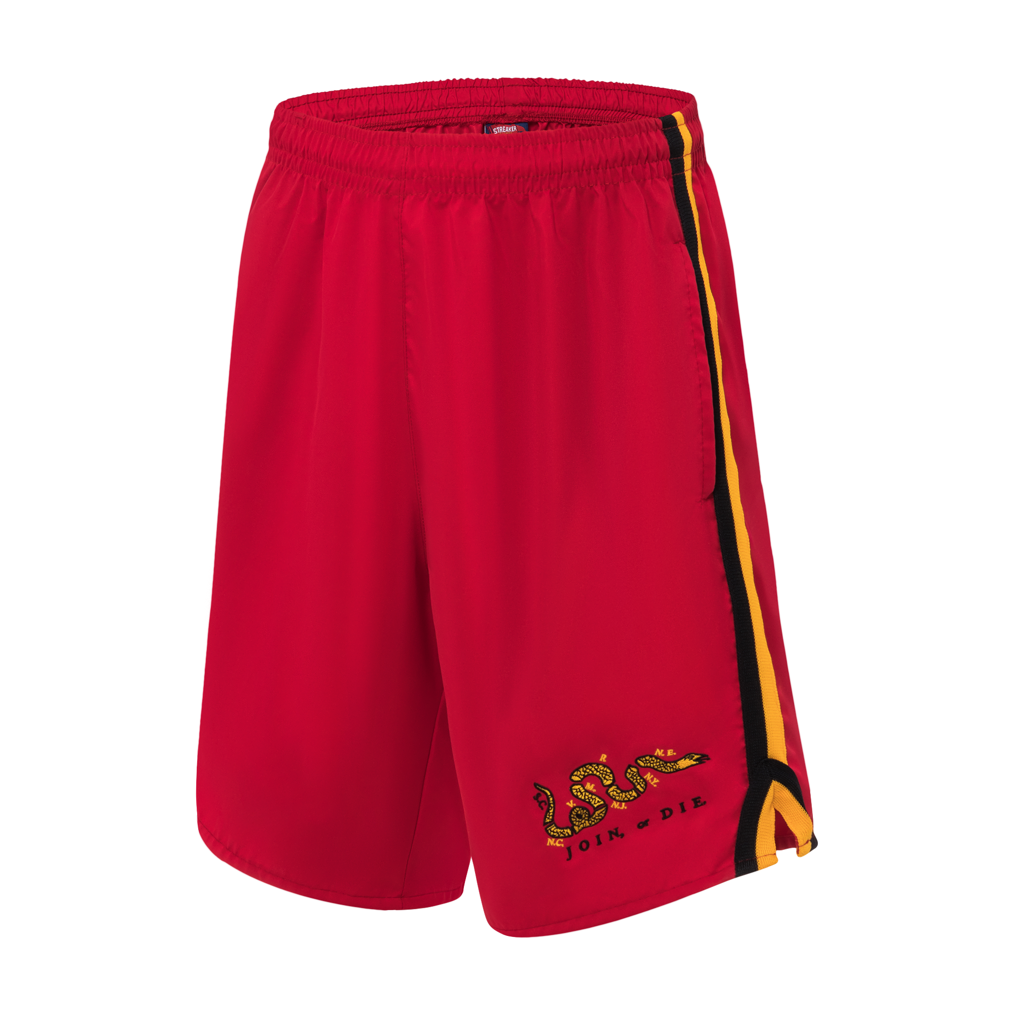 red Shorts product photography
