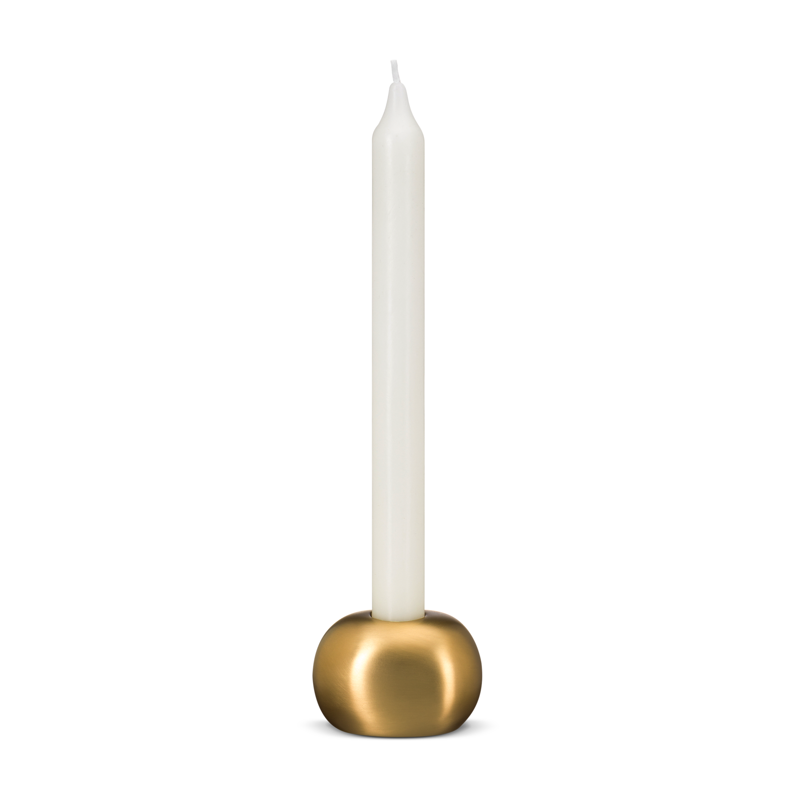 gold candlestick product photography
