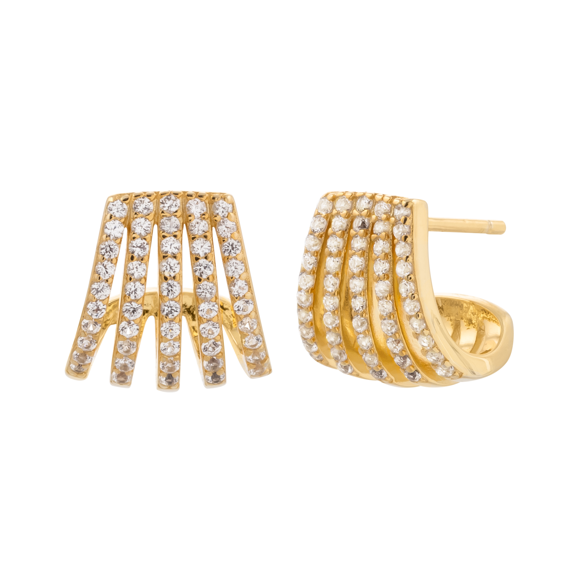 Golden diamond studs product picture