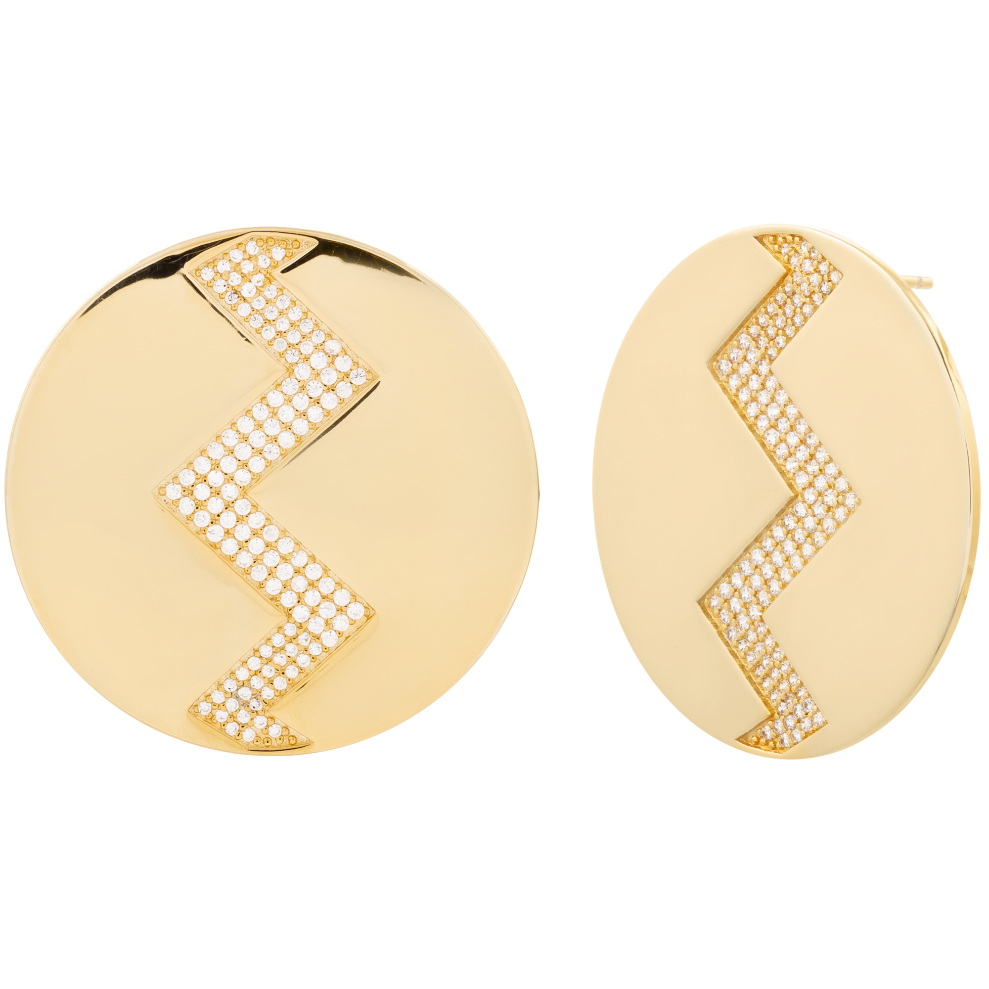 Golden round studs product image