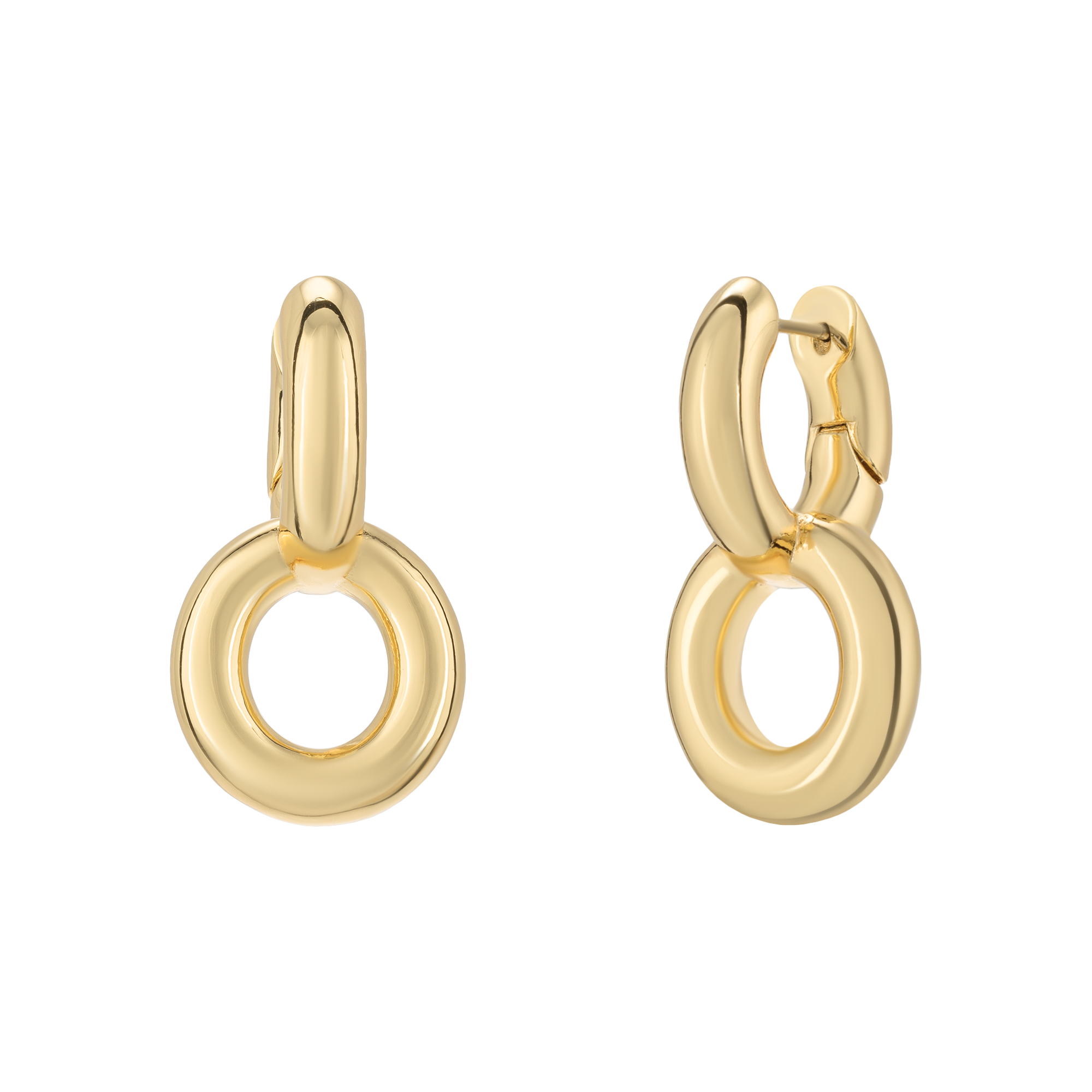 Golden massive earrings product image