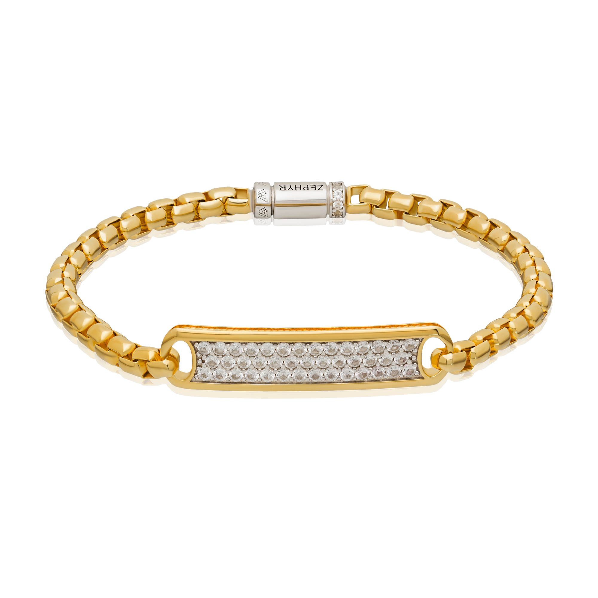 Golden bracelet product photography
