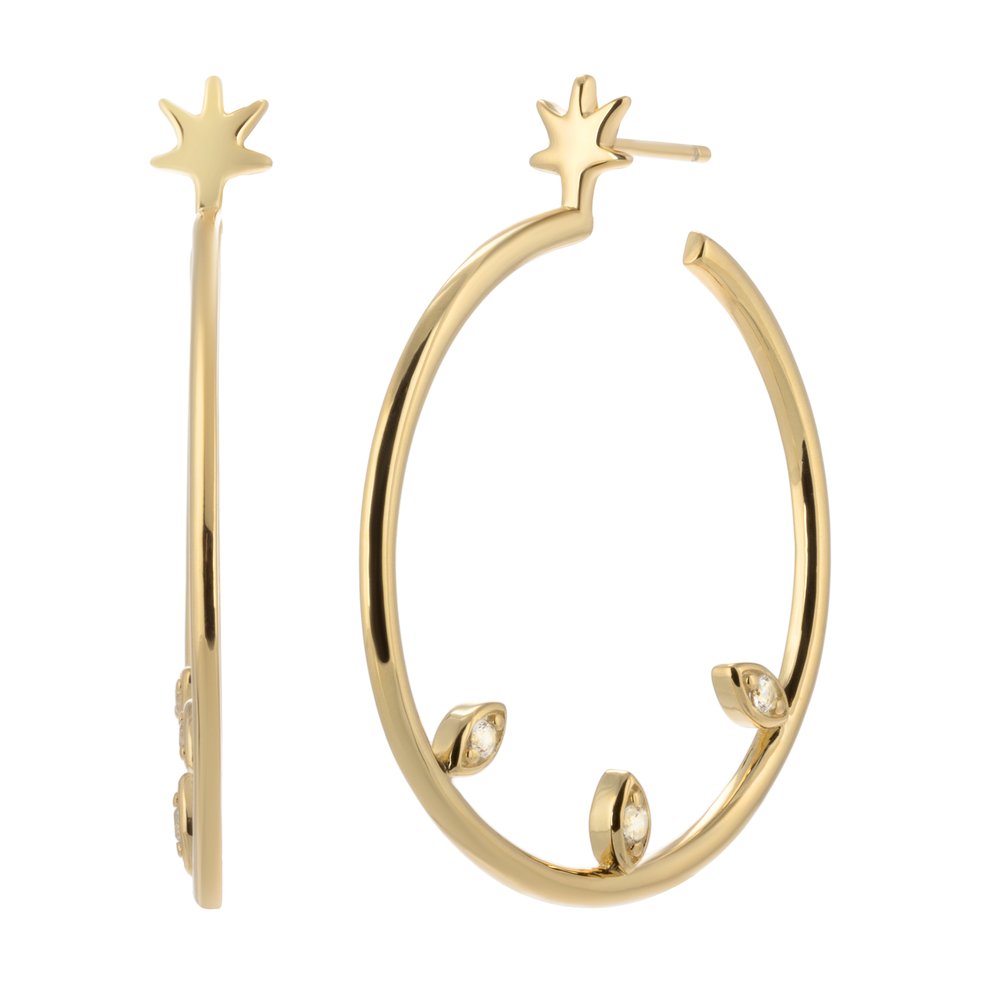 Golden hoops product photo