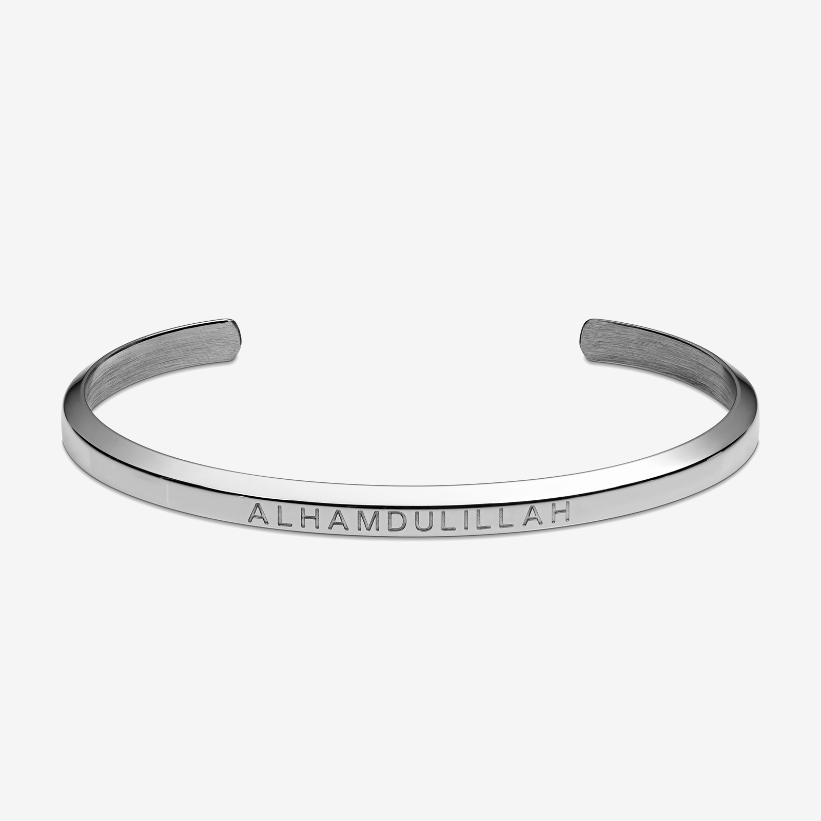 Silver bracelet product photo