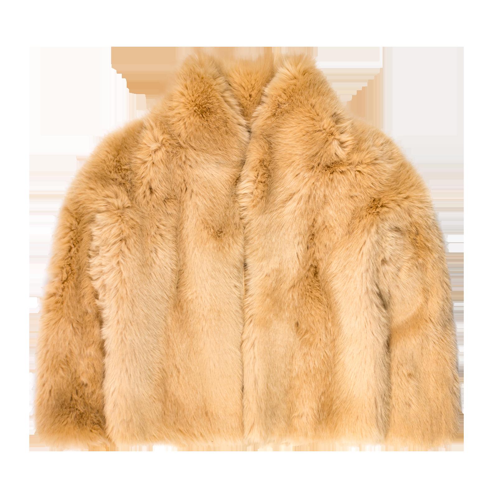Faux fur coat product photography