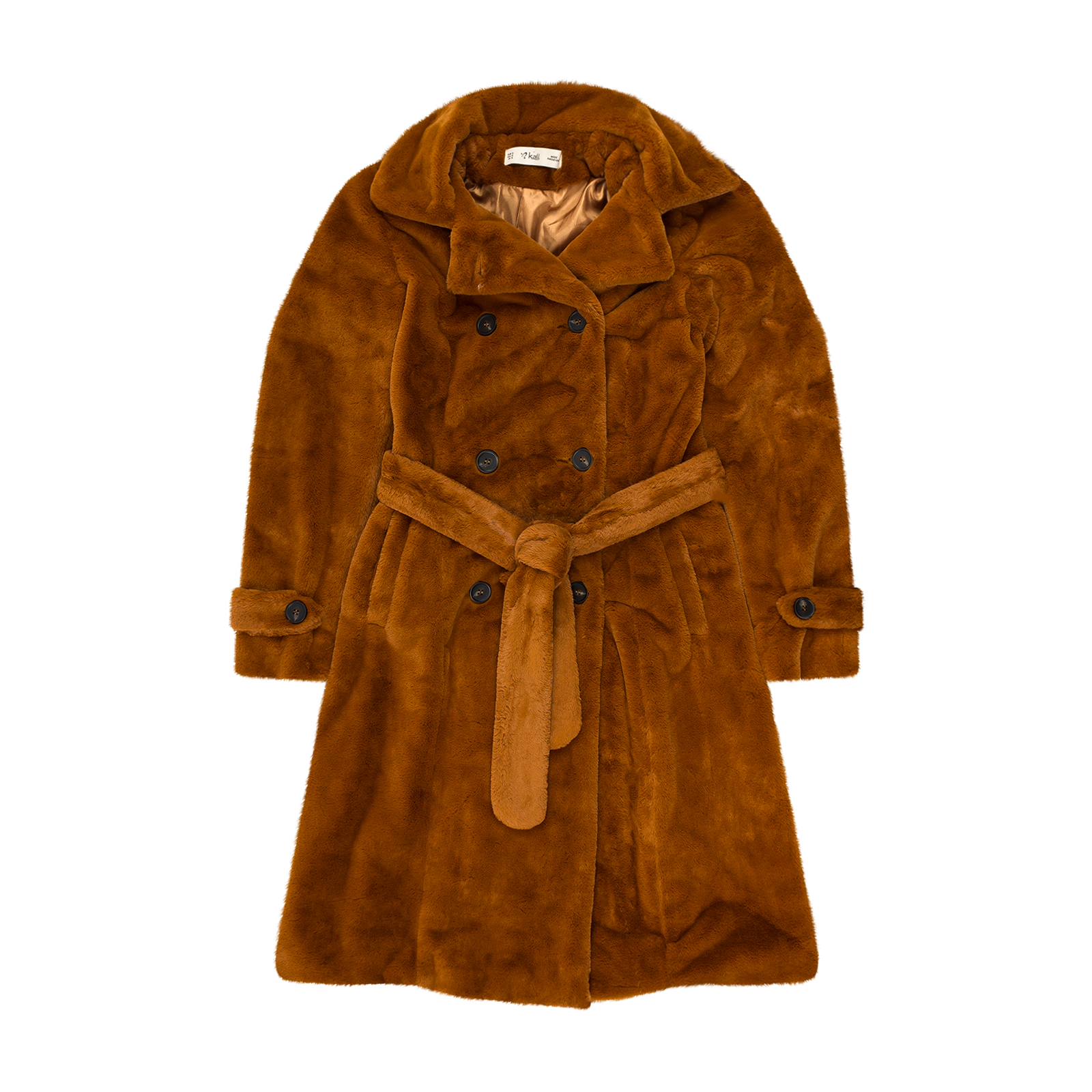 Flat lay coat product picture