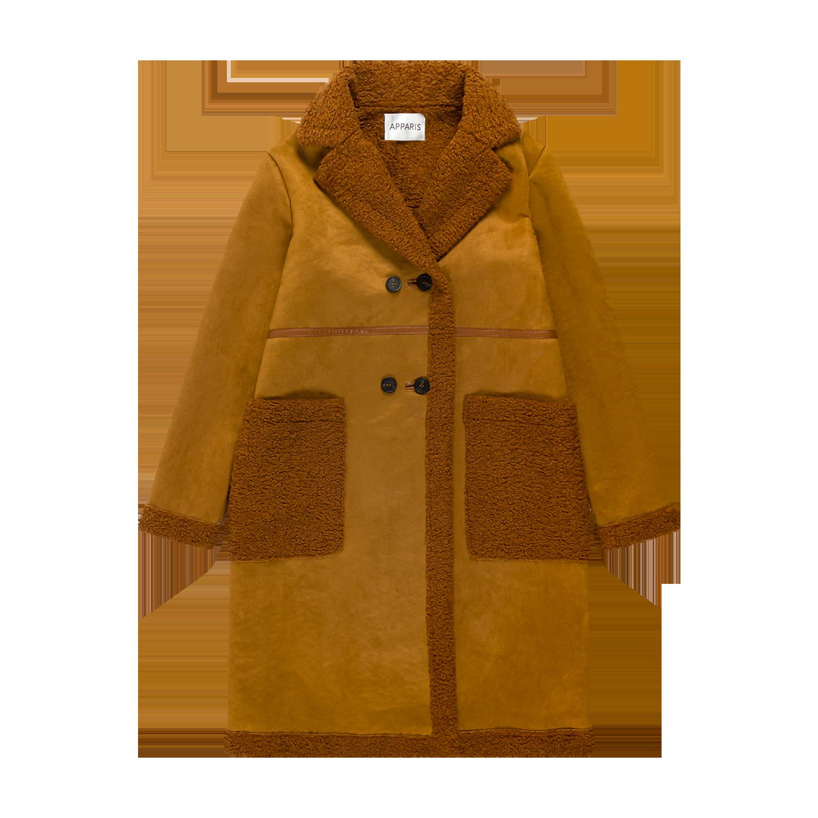 Flat lay coat product photography