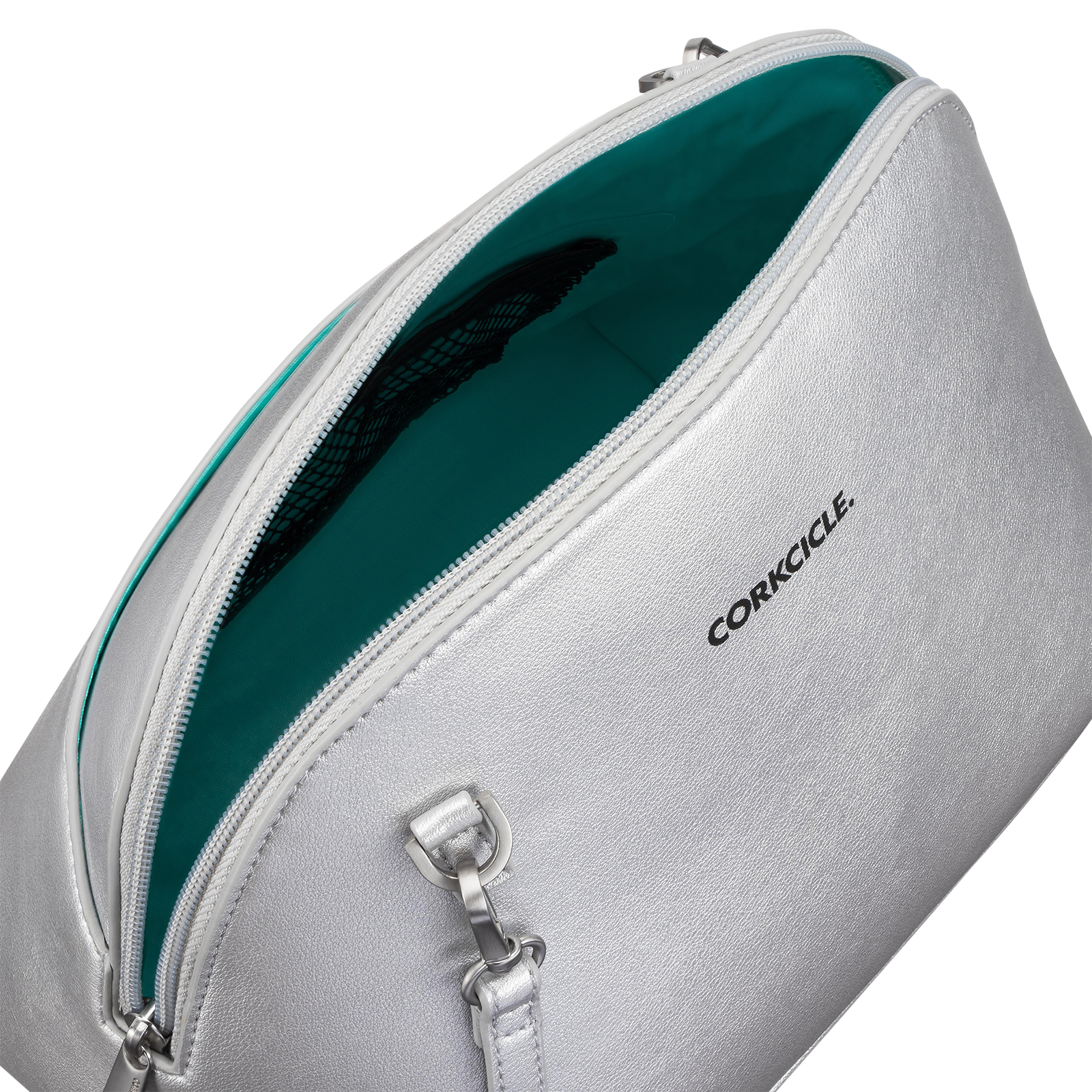 Silver bag product photography