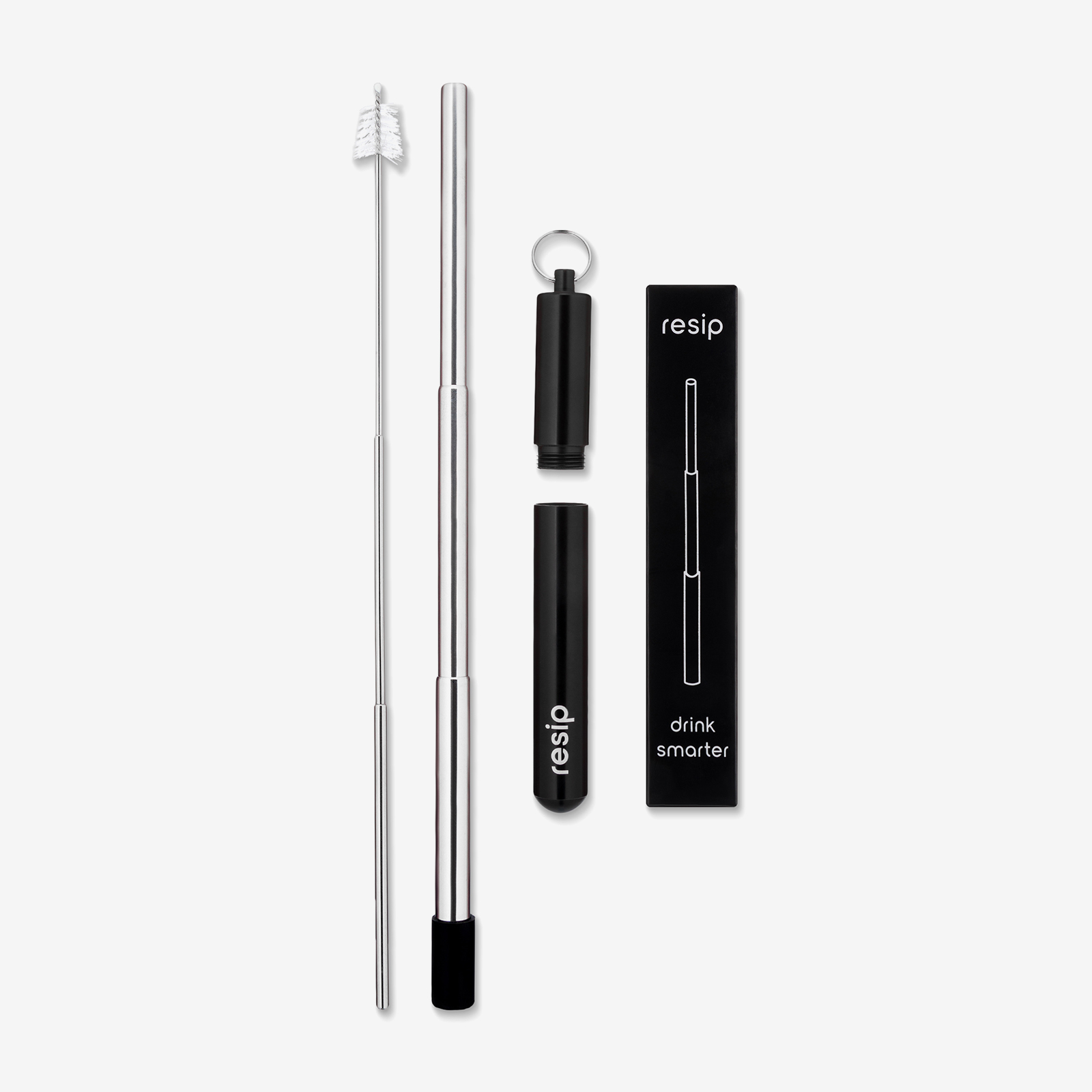 Steel straw product photo