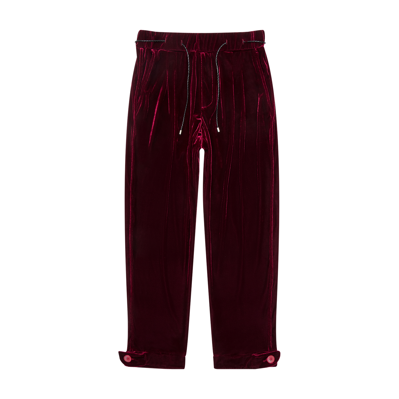 Flat lay trousers product photo