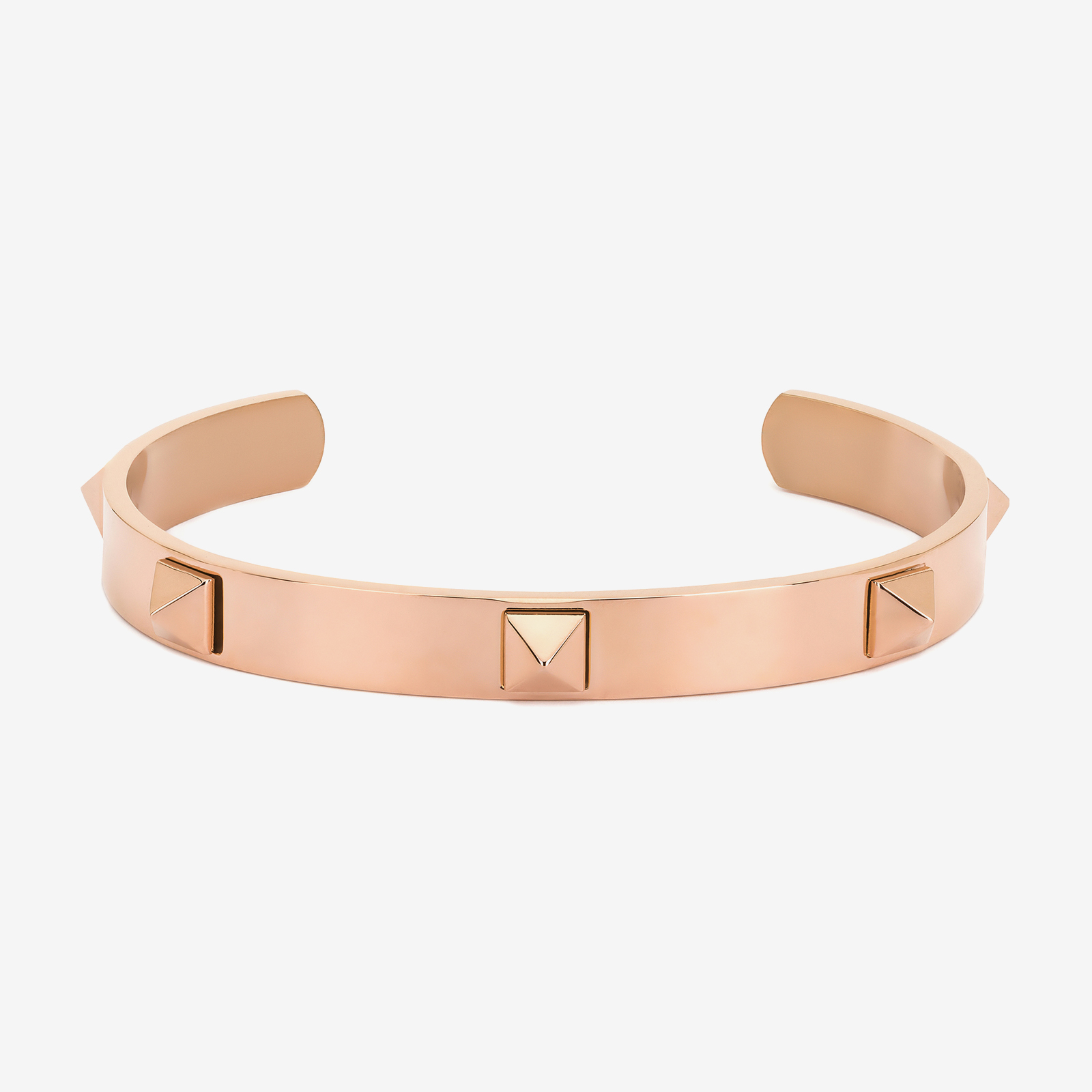 Rose gold bracelet product photography