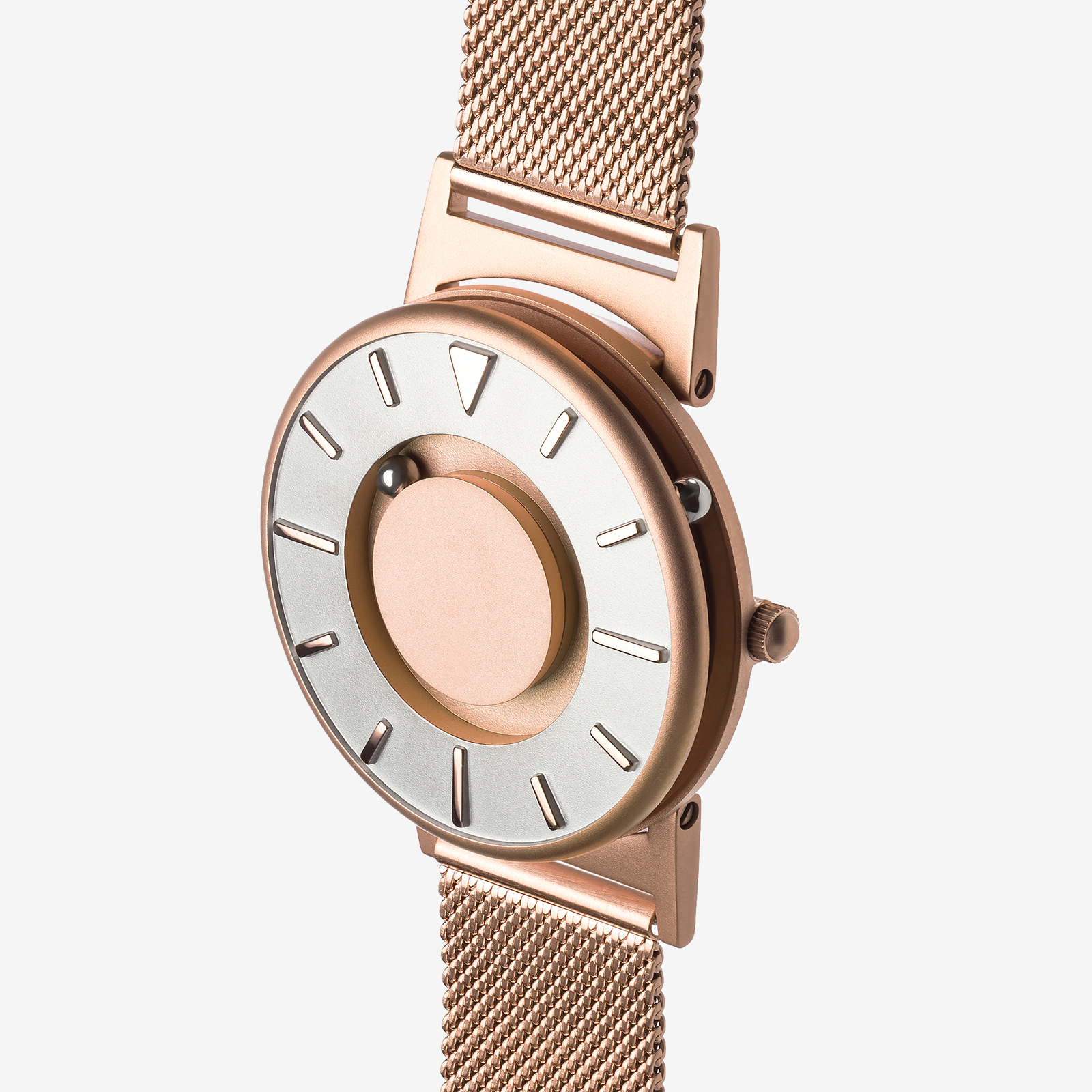 Rose gold watch product photo