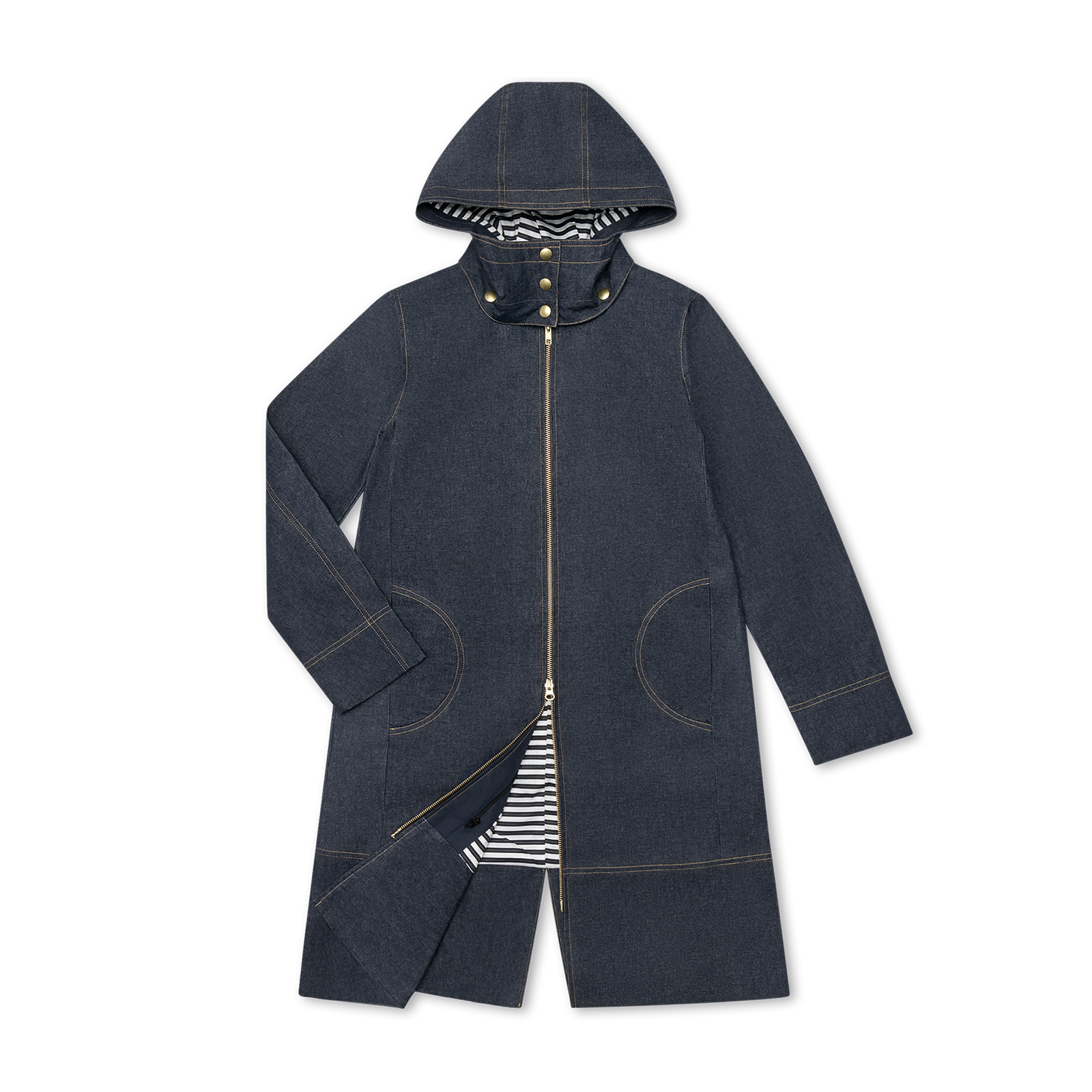 Jeans parka product photography