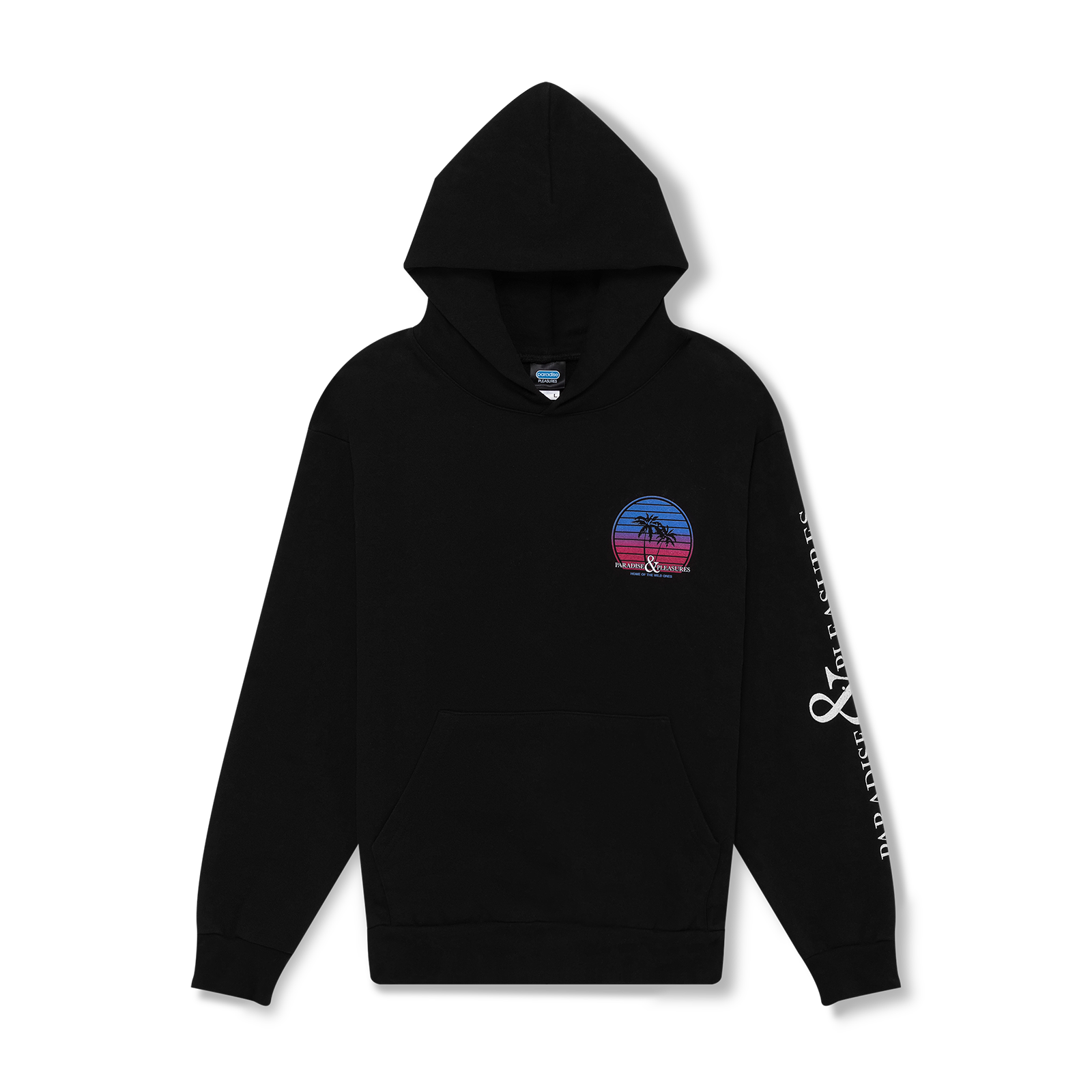 Flat lay hoodie product photo