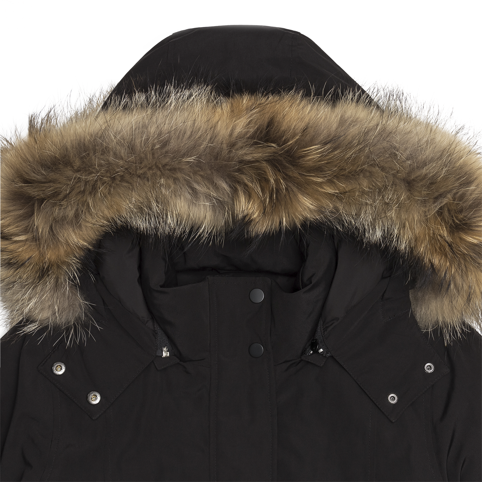 Fur parka hood product photo