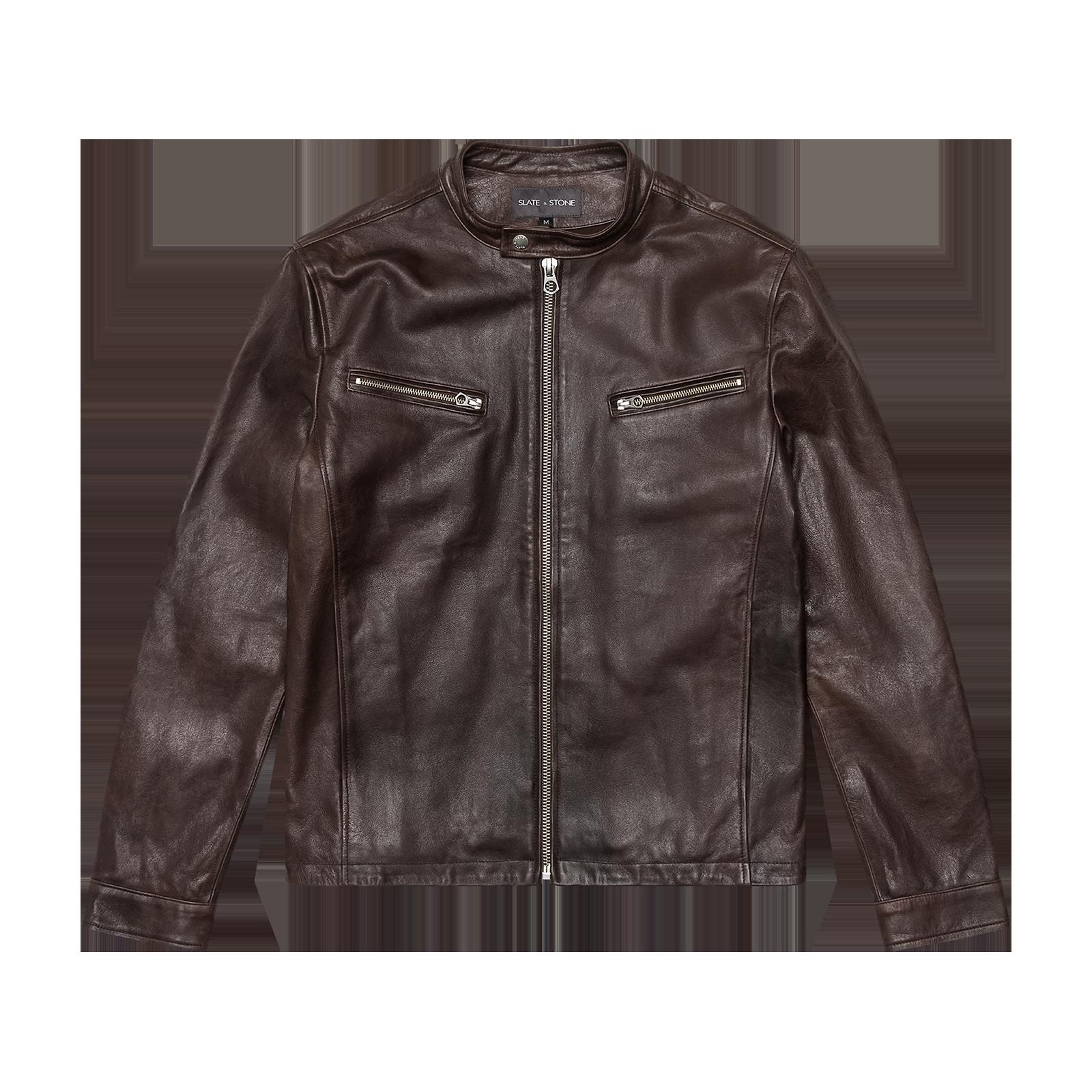 Leather jacket  product photography