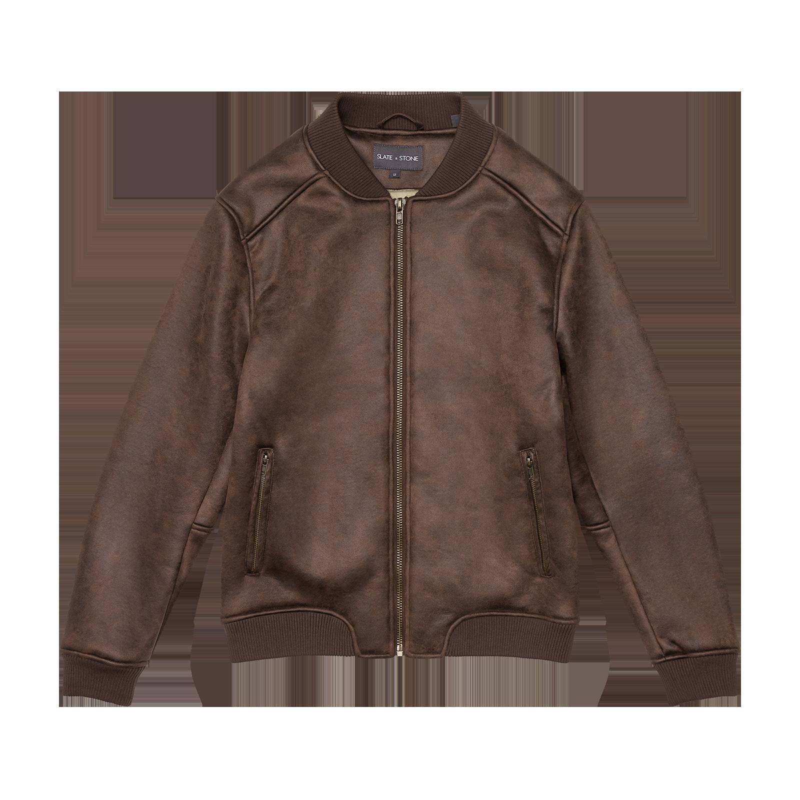 Leather bomber product photo