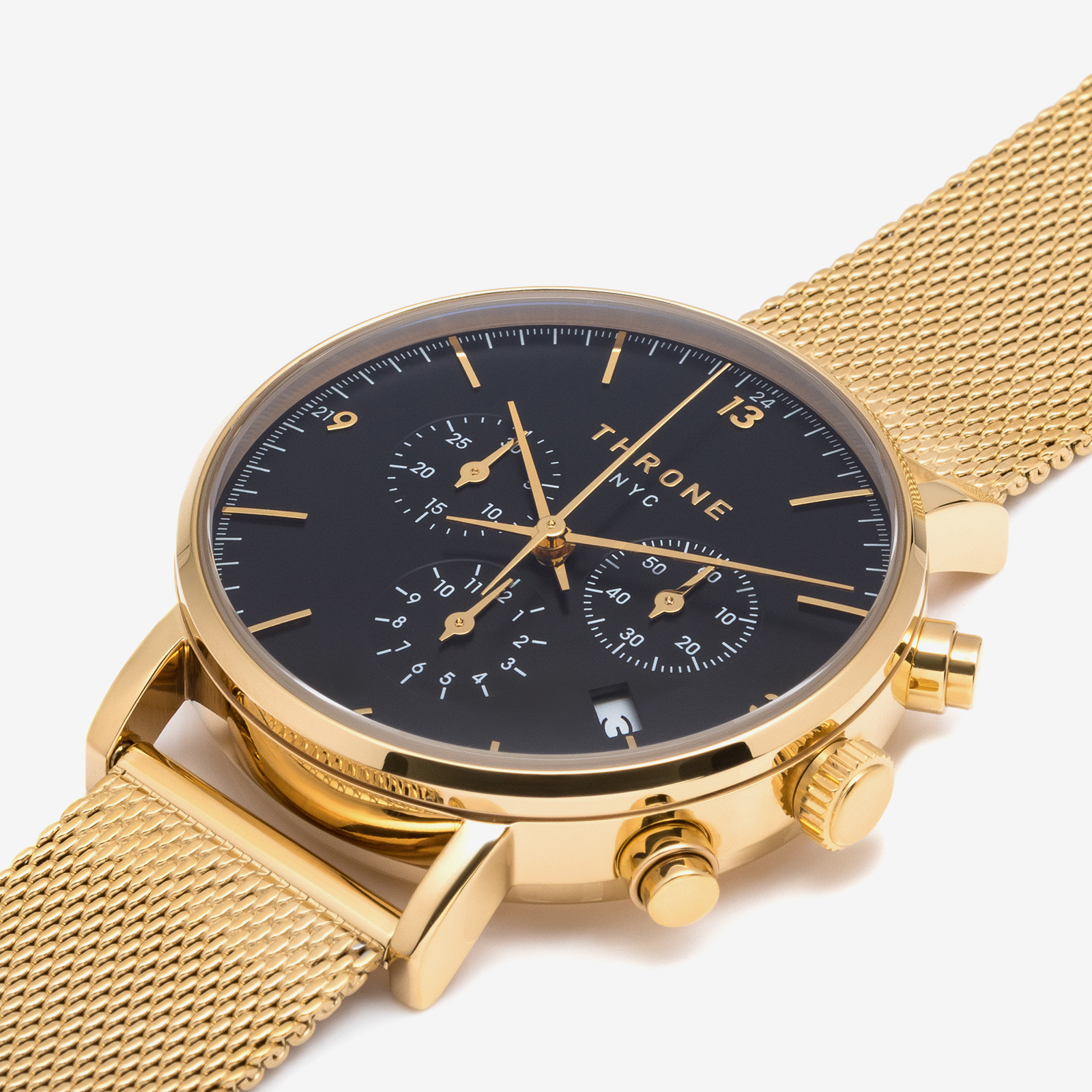Golden watch product picture