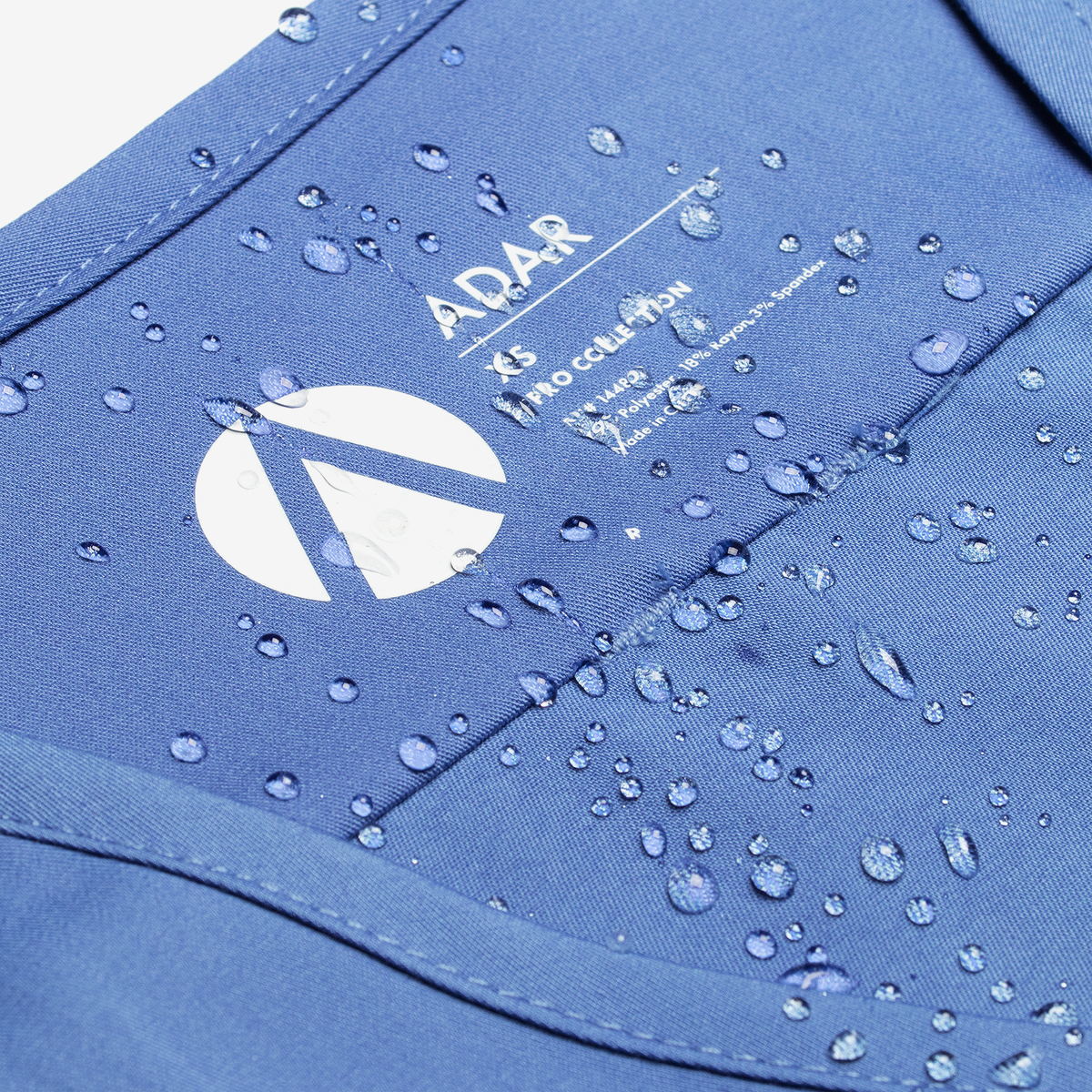 Waterproof fabrics product photography