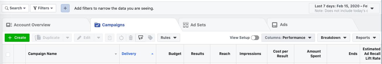 facebook ad hierarchy