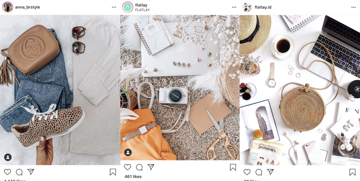 flat lay for instagram with props