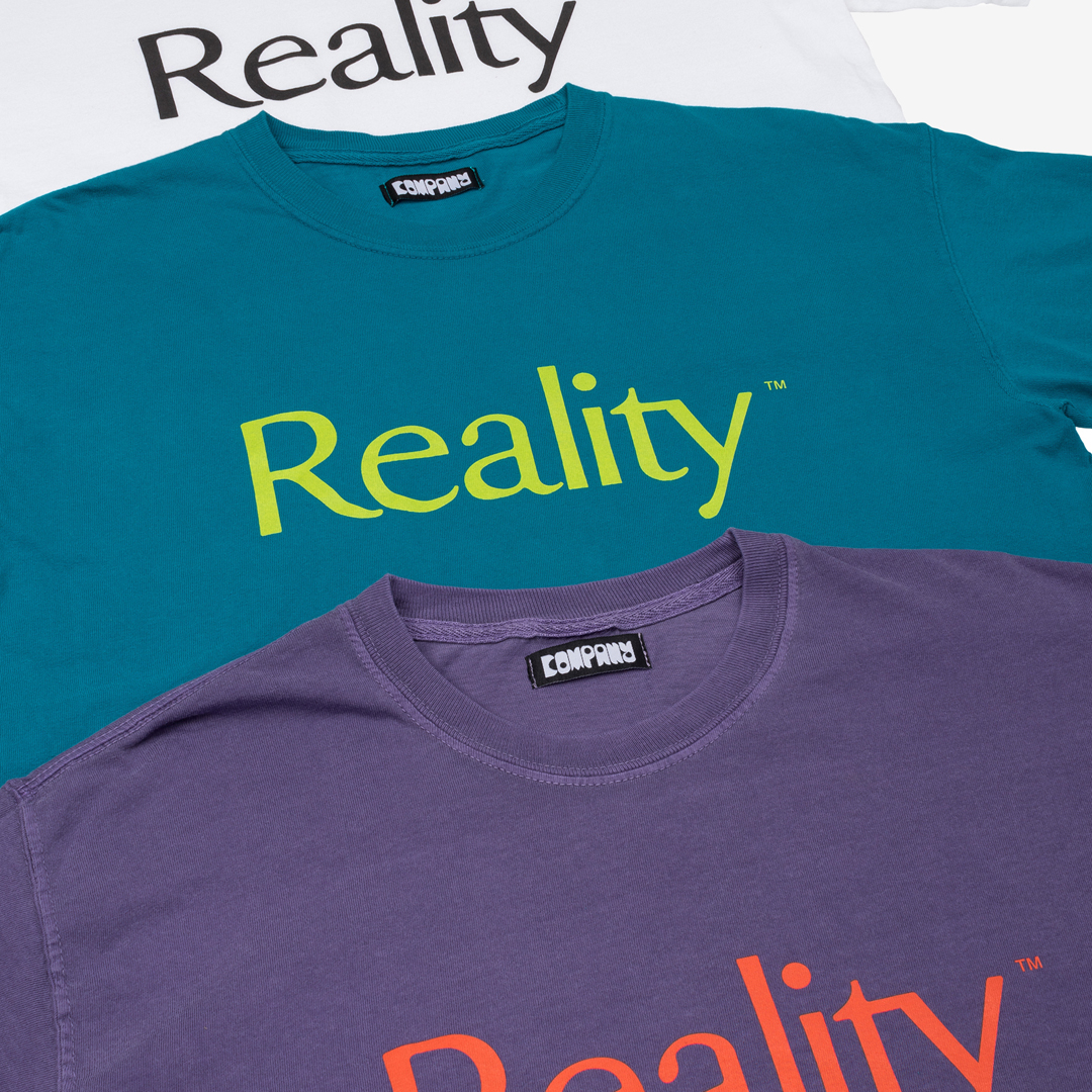 Company Distressed t-shirt flatlay group image