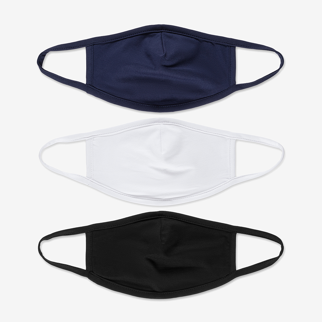 Set of three face mask