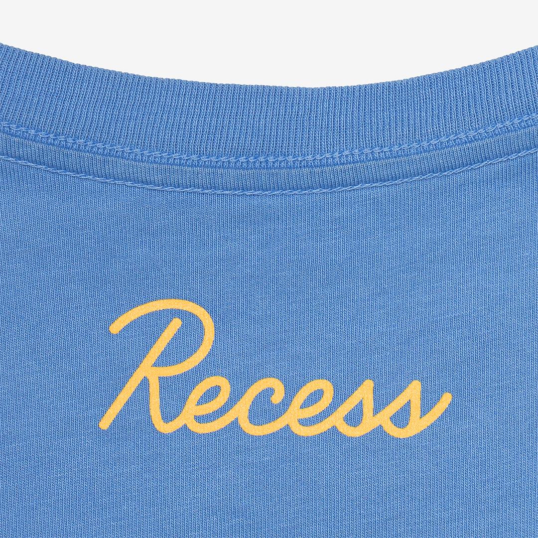 blue t-shirt close up