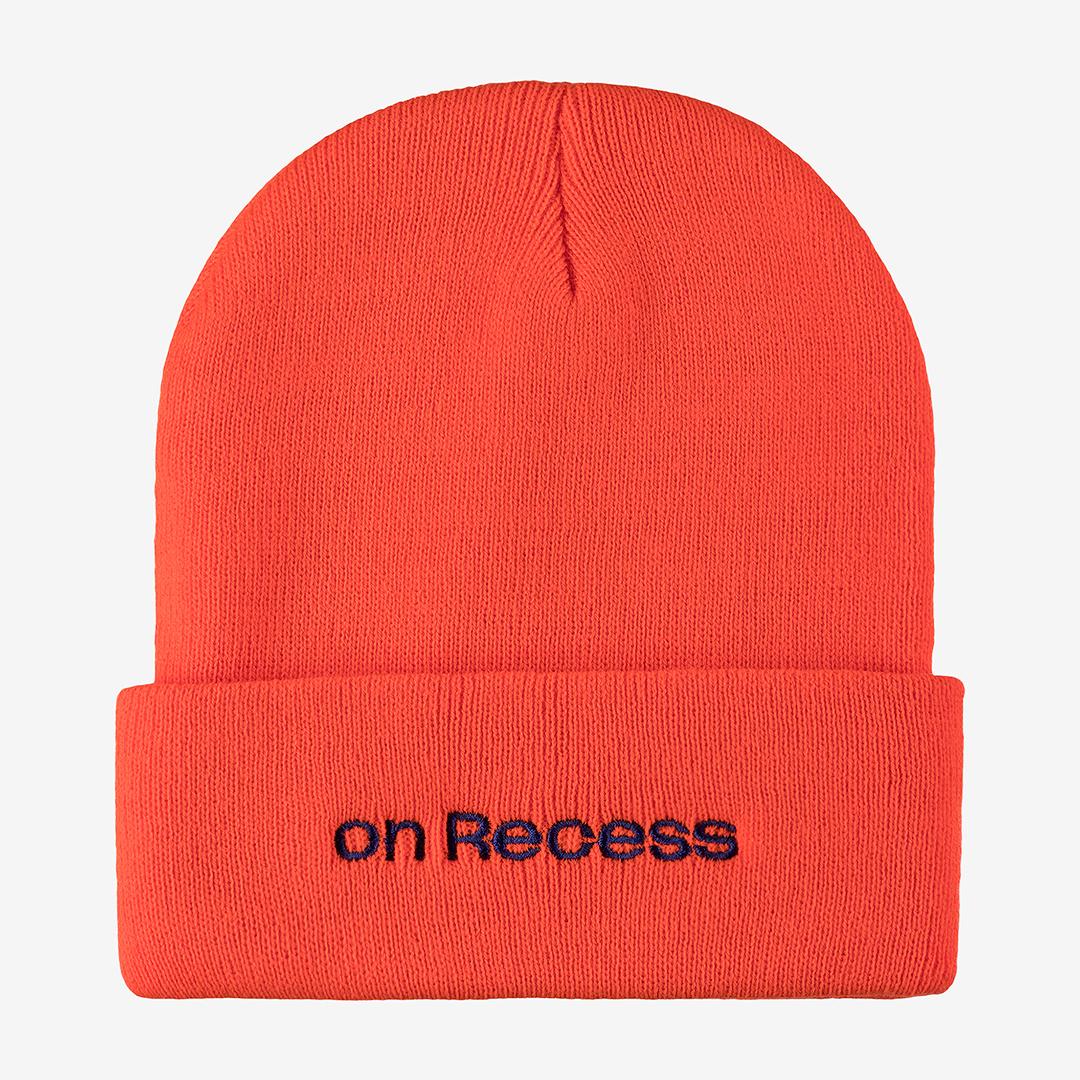 Orange winter hat