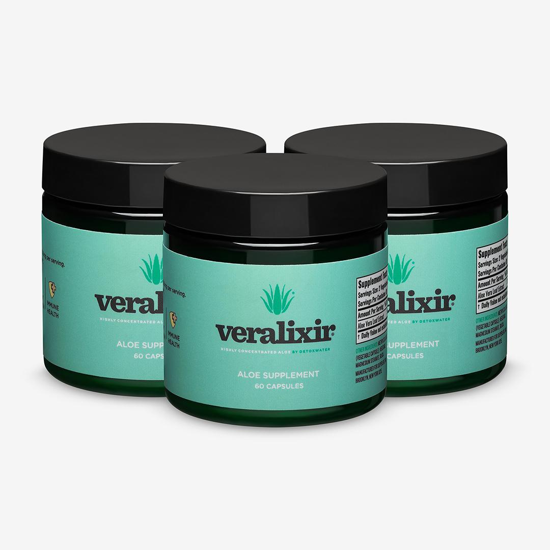 Detoxwater aloe supplement veralixir