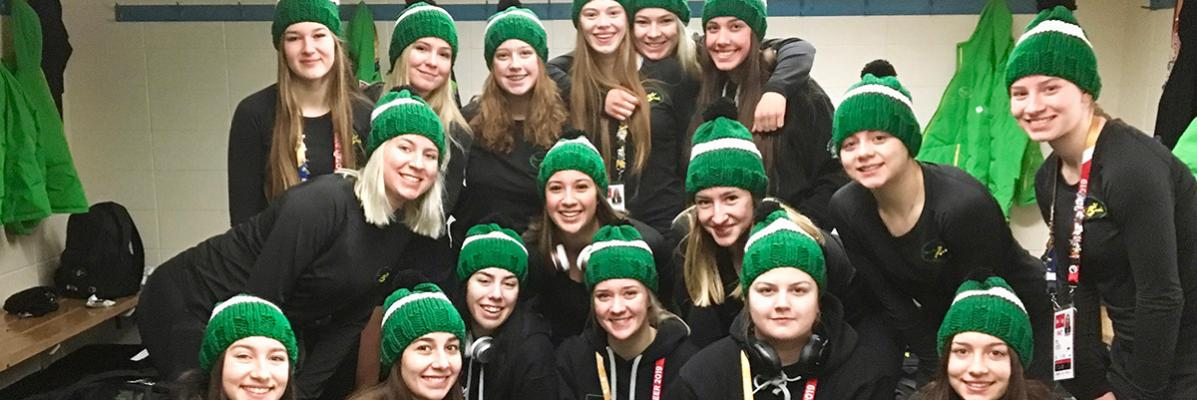 Games' Oldest Fan Knits Toques for Great-Granddaughters' Ringette Team