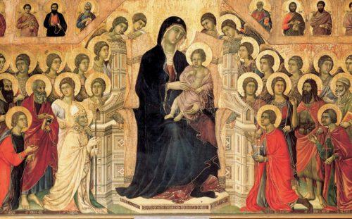 maria y santos a su alrededor