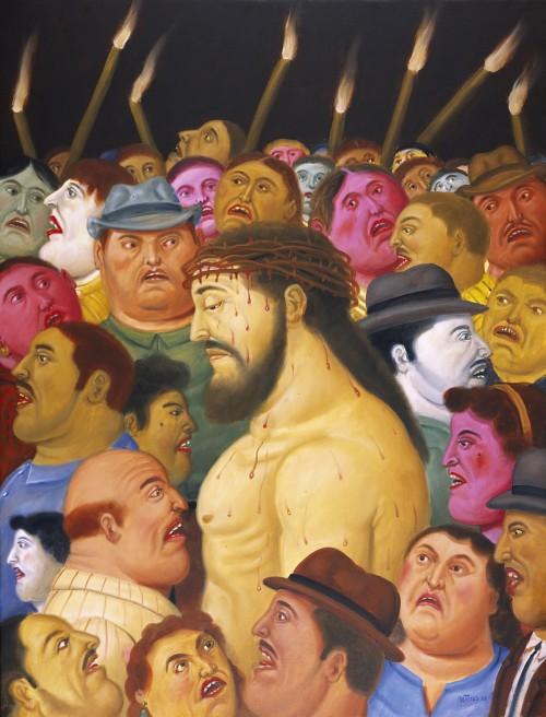 jesus en la pasion en la multitud