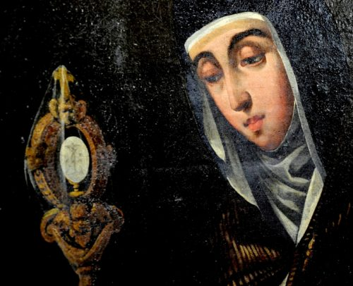 pintura cara de santa clara