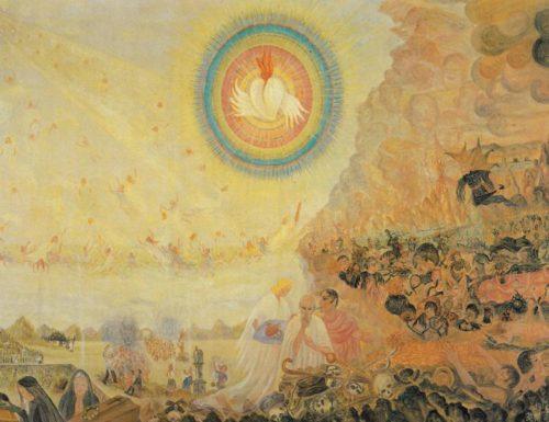 cuadro de Maria Magdalena Hafenscheer con sagrado corazon arriba