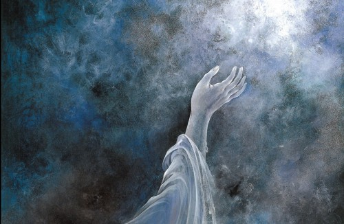 mano que busca a dios fondo