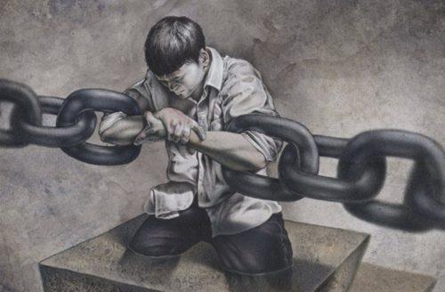 hombre encadenado