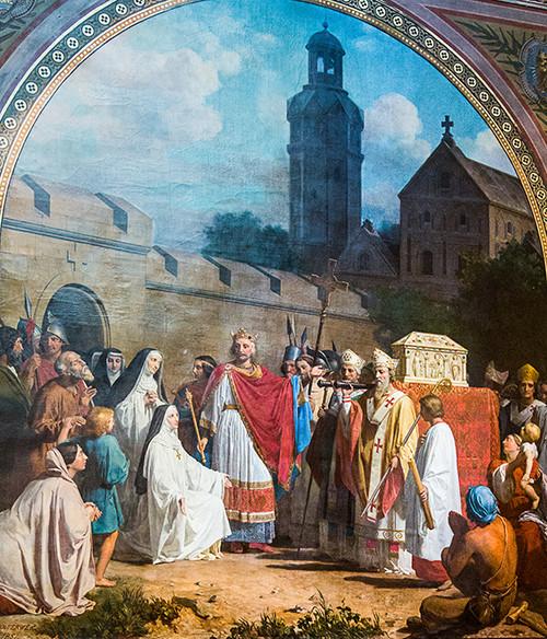 Tableau de Bouterwerk, Charlemagne apportant la Ste Tunique à Argenteuil